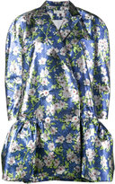 DELPOZO Floral Jacquard Coat - women - Silk/Cotton/Polyester - 36