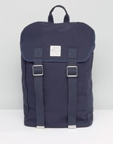 Jack Wills Foldover Buckle Front Navy Backpack