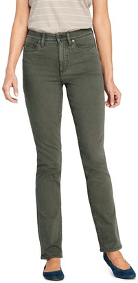 Lands' End Petite Shaping Straight-Leg Jeans