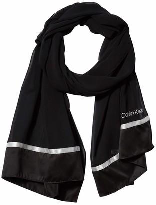 Calvin Klein Women's Satin Chiffon Wrap
