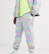 Sixth June holographic reflective track pant-Silver