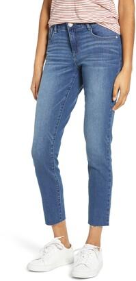 Wit & Wisdom Ab-Solution Raw Hem Ankle Skinny Jeans
