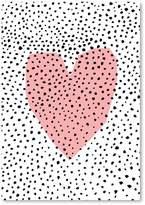 Americanflat Dotty Heart Print Art, Print Only