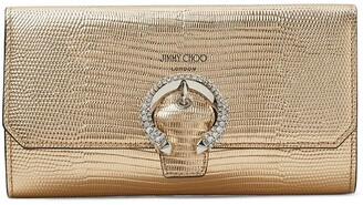 Jimmy Choo Wallet lizard-effect clutch bag