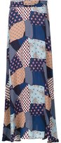 Sea patchwork belted skirt