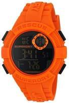 Superdry Men's SYG193O Radar Digital Display Quartz Orange Watch