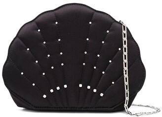 Les Petits Joueurs Crystal-Embellished Shell Clutch