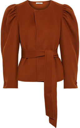 Ulla Johnson Maxine Belted Gathered Wool-felt Jacket