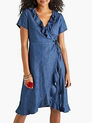 Yumi Wrap Denim Dress, Blue