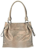 B. Makowsky As Is Sun Washed Croco Embossed Leather Tote