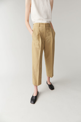 Cos Cotton-Linen Trousers With Pressfolds