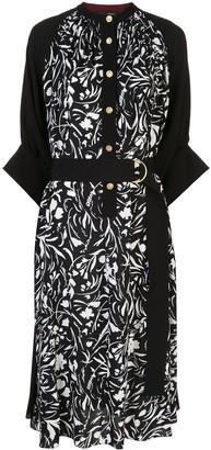 Proenza Schouler Floral Print Shirt Dress