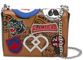 DSQUARED2 medium DD patch crossbody bag - women - Cotton/Calf Leather - One Size