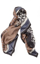 Lafayette 148 New York Women's Piazzetta Patchwork Silk Twill Scarf