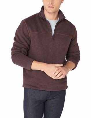 Arrow 1851 Arrow Men's Sueded Fleece 1/4 Zip Classic Soft Sweater