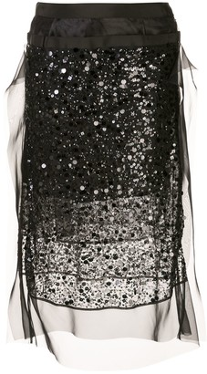 Sacai Sequin Midi Skirt