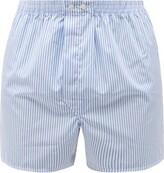 Derek Rose - Candy Striped Cotton Poplin Boxer Shorts - Mens - Blue Multi