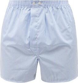 Derek Rose Candy Striped Cotton Poplin Boxer Shorts - Mens - Blue Multi