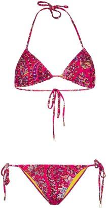 Etro Ibiza paisley-print bikini set