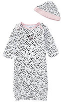 Little Me Baby Girls Newborn-3 Months Perfect Poodle Gown & Hat Set