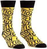 Sock It To Me Caution Tape Mens Crew Socks