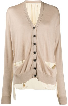 UMA WANG Long Sleeve Button-Up Cardigan