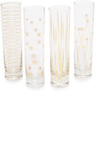 Gift Boutique Assorted Set of 4 Champagne Flutes