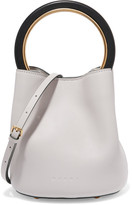 Marni Pannier Leather Mini Bucket Bag - White