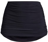 Thumbnail for your product : Norma Kamali Bill Ruched High-Rise Bikini Bottom