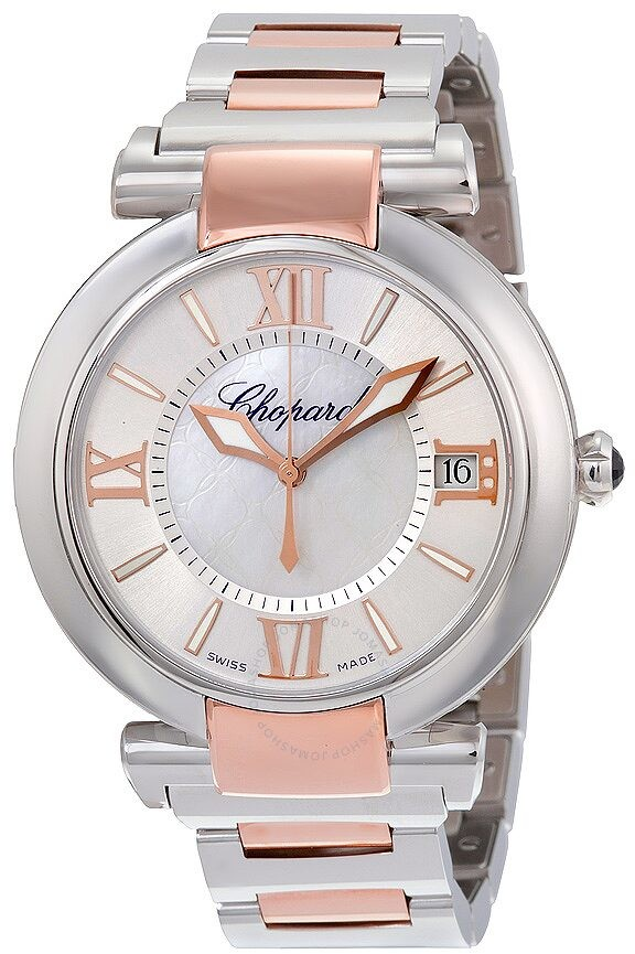 Chopard Imperiale Silver Mother of Pearl Dial Stainless Steel and Rose Gold Men's Watch