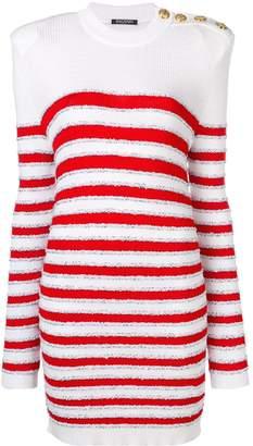 Balmain striped sweater dress