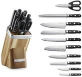 KitchenAid Professional 11-Piece Knife Block Set, Acacia