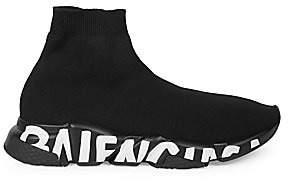 Balenciaga Men's Speed Graffiti Chunky Sock Sneakers