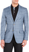 Tailorbyrd Blue Check Wool Sport Coat
