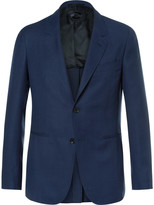 Caruso - Blue Butterfly Slim-fit Unstructured Wool-hopsack Blazer