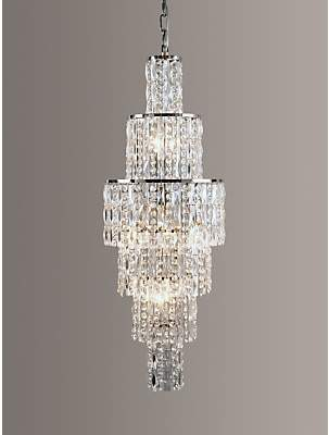 Impex New York Crystal Chandelier Ceiling Light, Clear/Chrome