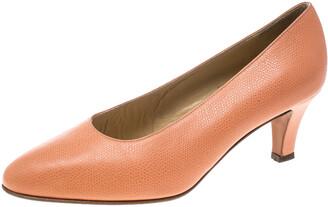 Celine Peach Pink Leather Pumps Size 37.5