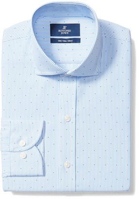 Buttoned Down Slim Fit Cutaway Collar Pattern Dress Shirt