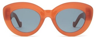 Loewe Butterfly Cat-eye Acetate Sunglasses - Red