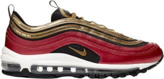 Nike 97 Running Shoes - Red / Metallic Gold Sail