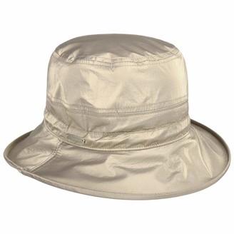 Seeberger Conny Rain Hat with Upward Brim Cloth (One Size - Golden)