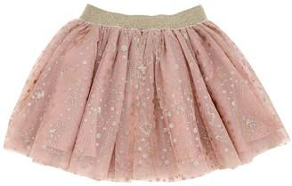 Wheat Aristocats Print Tulle Skirt