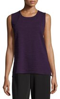 Caroline Rose Textured Knit Tank Top, Plum, Petite