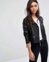 Vero Moda Leather Look Biker Jacket