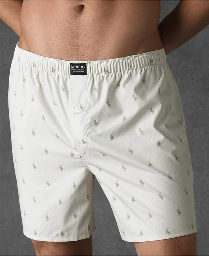 Polo Ralph Lauren Men Underwear, Allover Pony Woven Boxers