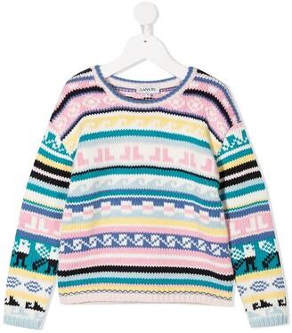 Lanvin Enfant Mini-me knitted jacquard jumper
