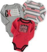 Calvin Klein Baby 3 Pack Bodysuit