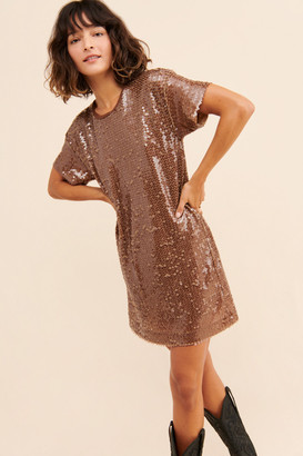 Ottod'Ame Sequin Shine T-Shirt Dress