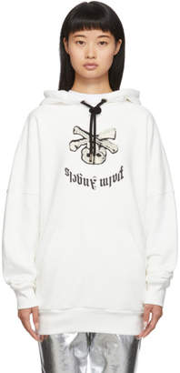 Palm Angels White New Skull Hoodie