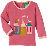 Little Green Radicals Enchanted Castle Applique Tee (Baby) - Pink-3-6 Months